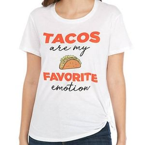 Cold Crush Tacos Graphic Side knot T-Shirt Large